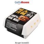 Custom Burger Boxes Wholesale Free Shipping